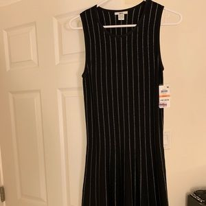 Bar iii Women's black and silver dress